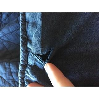 INK+IVY Morris Blue Cotton Solid Coverlet Set