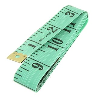 """Unique Bargains Tailor Craft Sewing Cloth Ruler 60"""" Flexible Tape Measure Green"""