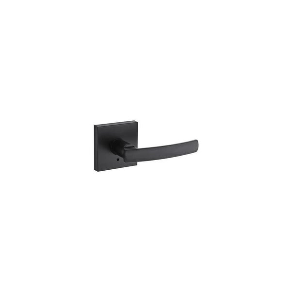 Kwikset 155SYLSQT Sydney Privacy Door Lever Set with Square Rosette from the Signature Series - N/A