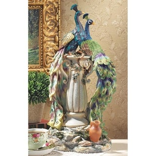 Peacocks in Paradise Statue DESIGN TOSCANO bird statue peacock sculpture