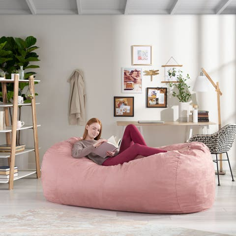 Larson 8-foot Lounge Beanbag Chair by Christopher Knight Home
