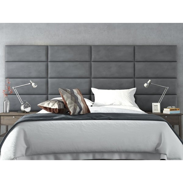 Vant Upholstered Wall Panels (Headboards) Sets of 4 - Micro Suede Gray - 30 Inch - Full-Queen.. Opens flyout.