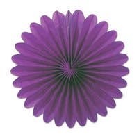 """Club Pack of 72 Plum Purple Miniature Tissue Paper Fan Hanging Party Decorations 6"""""""