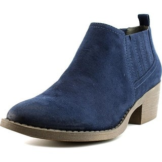 BC Footwear Angel Women  Round Toe Canvas Blue Bootie