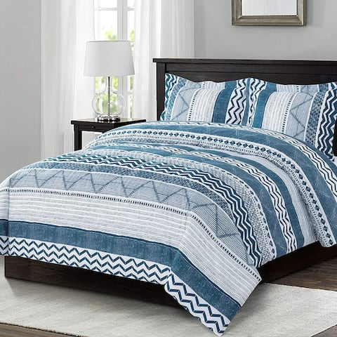 Shatex Striped Bedding Comforter Sets