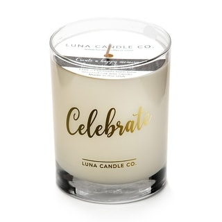 Luna Candle Co., Celebrate - Vanilla Scented Luxurious Candles - 11 Oz
