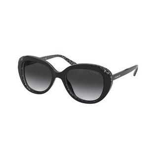 Link to Coach HC8289 55828G 53 Black Glitter Signature C Woman Round Sunglasses Similar Items in Women's Sunglasses