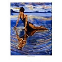 ''Reflections of a Queen'' by A.C. Smith African American Art Print (24 x 18 in.)