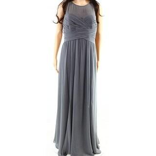 Lauren Ralph Lauren NEW Manor Gray Womens Size 6 Georgette Maxi Dress