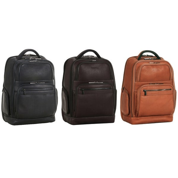 Kenneth Cole Reaction Full-Grain Colombian Leather 16-inch Laptop & Tablet Business Travel Backpack. Opens flyout.