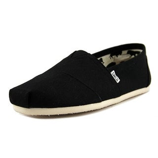 Toms Classic Men Round Toe Canvas Black Loafer