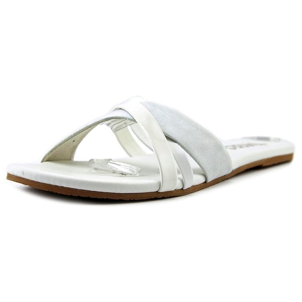 Tkees Kenzie Women Open Toe Leather Slides Sandal