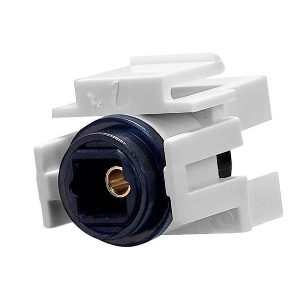 Monoprice S/PDIF (Toslink) Digital Optical Audio Keystone Jack, Female to Female Coupler, White