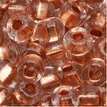 Czech Seed Beads 6/0 Clear Crystal Copper Foil Lined - Thumbnail 0