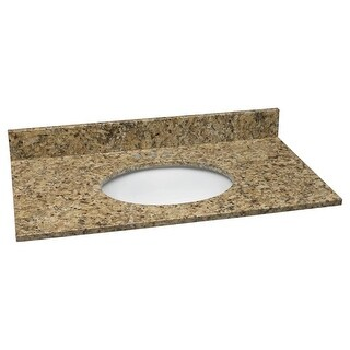 """Design House 552406 25"""" Vanity Top with Bowl from the Granite Collection"""