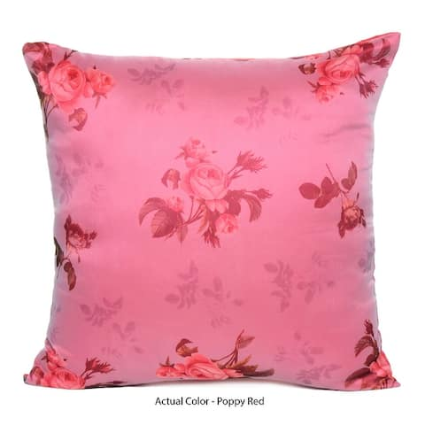 Oussum Home Decor Satin Organza Cushion Cover Decorative Pillow Cover Floral Pillow Case Set Of 2