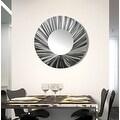 Statements2000 Silver Metal Wall Mirror Art Accent Decor by Jon Allen - Mirror 118 - Thumbnail 11