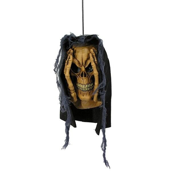 Peeping Skeleton Halloween Window Décor