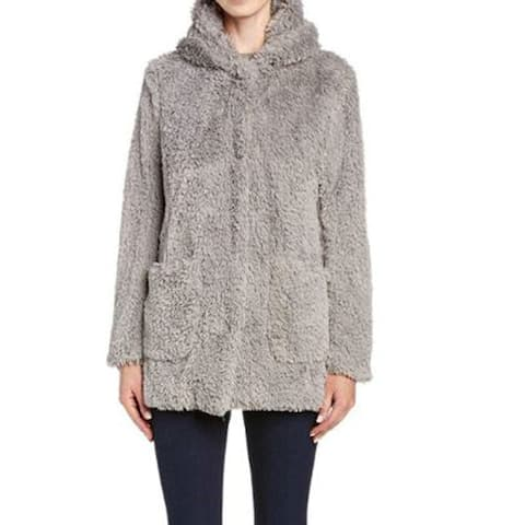 Kenneth Cole New York Women's Leisure Coat Pale, Grey, Medium