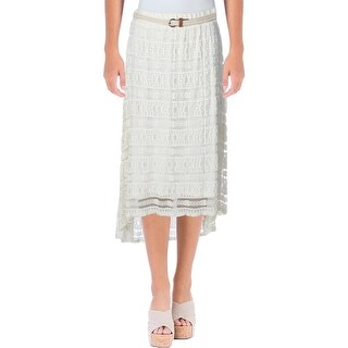 NY Collection Womens Straight Skirt Lace Hi-Low