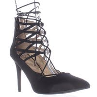 MG35 Pronto Lace Up Pointed Toe Heels, Black