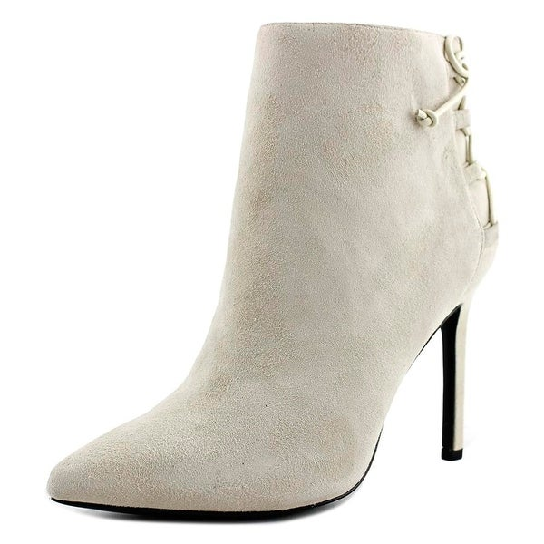 Charles David Catherine Women Round Toe Suede Tan Ankle Boot
