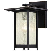 Westinghouse 6203900 Clarissa Outdoor Wall Sconce with 1-Light with Clear Seeded Glass - Oil Rubbed Bronze - N/A