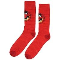 Disney The Muppets Socks Animal Men's Casual Crew Socks, Shoe Size 8-12