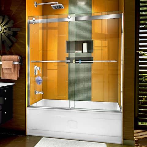 "DreamLine Sapphire Semi-frameless Glass Bypass Tub Door - 56"" - 60"" W - 56"" - 60"" W"