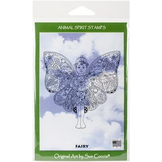"EarthArt International Cling Stamp 4.25""X7""-Fairy"