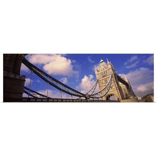"""Low angle view of a bridge, Tower Bridge, London, England"" Poster Print"