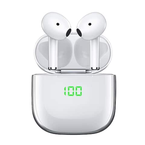Bluetooth 5.0 EarBuds w/ Automatic Pairing (Android Compatible as well) - In Ear Design - Magnetic Charging Case
