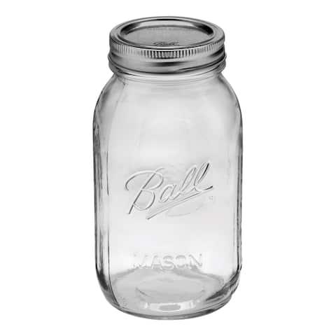 Ball 62000 Regular Mouth Mason Jars, 1 Quart (32 Oz), Box Of 12
