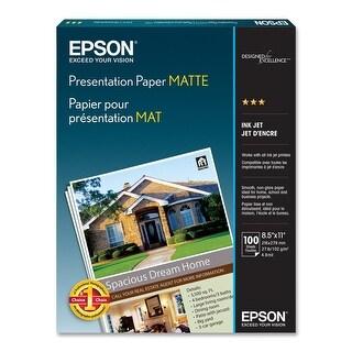 Epson Presentation Paper Matte, 8.5 x 11 Inches, 100 Sheets (S041062)