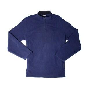 Club Room NEW Blue Men's Size XL 1/2 Zip Pull-Over Fleece Sweater