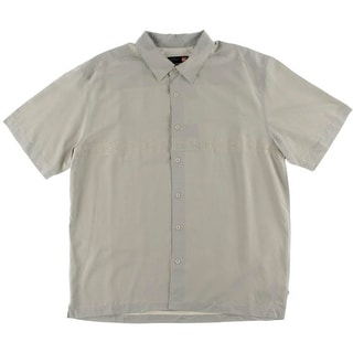 Quiksilver Mens Embroidered Slub Button-Down Shirt - XL