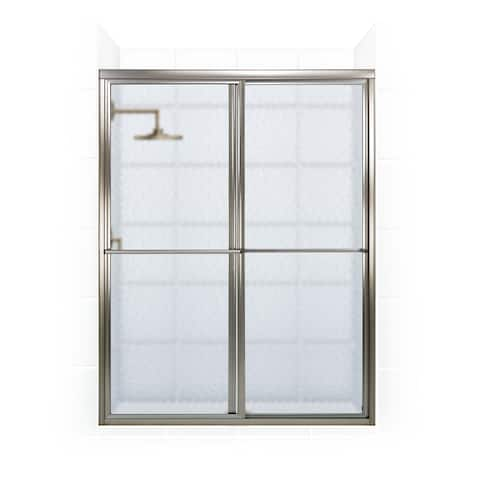 """Coastal Shower Doors 1656.70-A Newport Series 56"""" x 70"""" Framed Sliding Shower Door with Towel Bar and Obscure Glass -"""