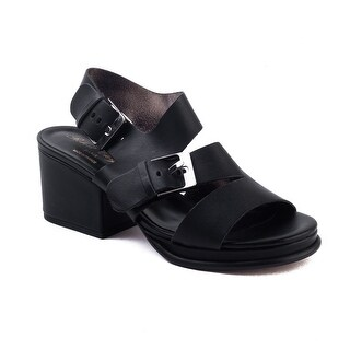 Robert Clergerie Women's 'Erol' Leather Heel Sandal Black