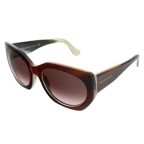 Balenciaga BA0017S 47T Brown Horn Oval sunglasses