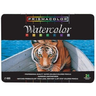 Prismacolor Premier Non-Toxic Water Soluble Watercolor Pencil Set, Assorted Color, Set of 24