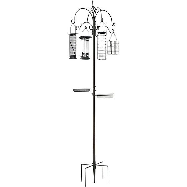 Hook Bath Feeding Station Kit, 4 Wild Multi Pole Steel Hanging Stand Planter