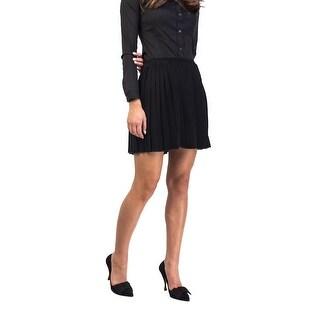 Prada Women's Viscose Pleaded Skirt Black - 6