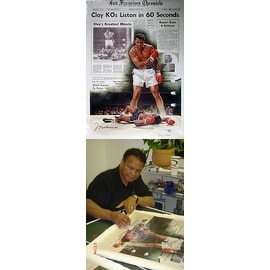 ''Clay KOs Liston in 60 Seconds'' by Doug London African American Art Print (39.5 x 28.25 in.)