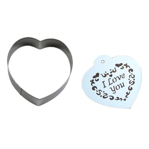 Stainless Steel Cookie Cutter Mold + Appropriate Cookie Spray/Brush Pattern - silver