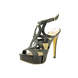 Guess Kaesy 2 Women Peep-Toe Leather Black Heels