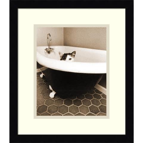 Framed Art Print 'Kitty III' by Jim Dratfield 13 x 15-inch