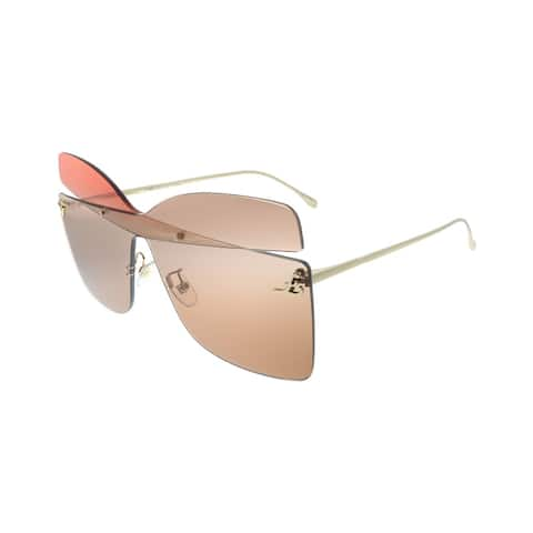 Fendi Karligraphy FF 0399 G63 Womens Opal Peach Frame Red Lens Sunglasses