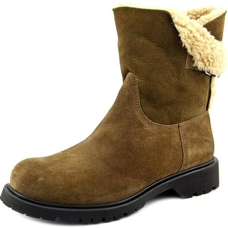 La Canadienne Honey Round Toe Suede Ankle Boot