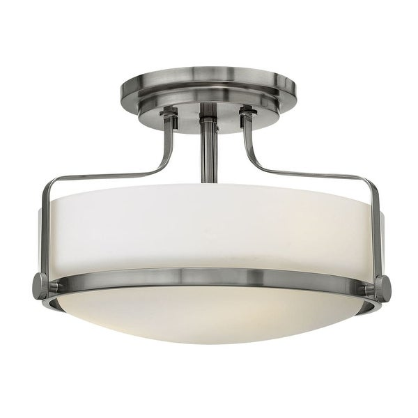 "Hinkley Lighting 3641 Harper 3-Light 15"" Wide Semi Flush Ceiling Fixture with Etched Opal Glass - N/A"