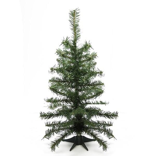 "2' x 10"" Canadian Pine Medium Artificial Christmas Tree - Unlit"